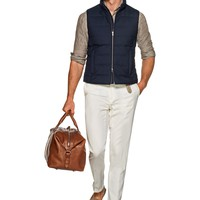 Navy Padded Vest Bw120i | Suitsupply Online Store