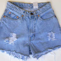 High Wasted Denim Shorts Vintage Jordache Jean Shorts Size 00