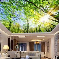 Custom photo 3d ceiling murals wall paper Contracted the sky tree decoration painting 3d wall murals wallpaper for walls 3 d