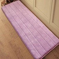 New Fashion Memory Foam Carpet Home Bathroom Skid Resistance Mat Water Absorption Door Floor Mat Free Shipping