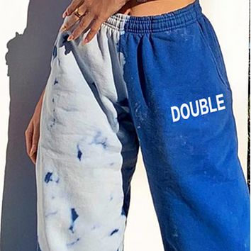 Women's New Letter Printed High Waist Loose Pants