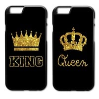 Cool King Queen Cover Case for iPhone 4 4S 5 5S 5C SE 6 6S 7 8 Plus X Samsung Galaxy S3 S4 S5 Mini S6 S7 S8 Edge Plus A3 A5 A7 E5 E7AT_93_12