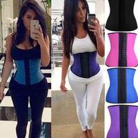 Latex Rubber Shapewear Waist Trainer Cincher Underbust Corset Body Shaper Belt