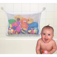S L Size Baby Bath Bathtub Toy Mesh Storage Bag Suction Bathroom Stuff Tidy Net Organizer