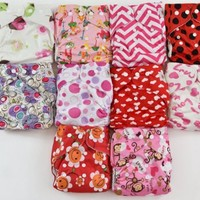 10 Pack Pocket Cloth Diapers with 20 Inserts (2 Inserts Per Diaper)-girl Pack
