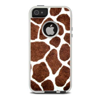 The Real Giraffe Animal Print Apple iPhone 5-5s Otterbox Commuter Case Skin Set