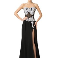 Grace Karin® Women's Strapless High Split Style Evening Prom Dresses CL7519