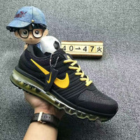 NIKE AIR MAX Fashion Sport Casual Shoes Sneakers yellow