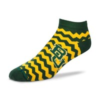 Rally House | BAYLOR GRN CHEVRON NO SHOW SOCK
