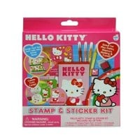 Hello Kitty Stamp & Sticker Book School Gift Set with cards, stamps, markers envelopes & more!