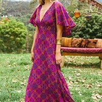 Florence dress in plum