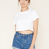 Cuffed Crop Top