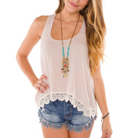 Glowing Ember Top - Taupe