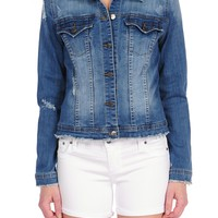 Tractr Ripped Denim Jacket