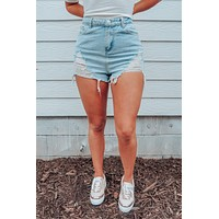 No One Else Shorts: Denim