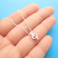 Your Melody, All, Sterling, Silver G Clef, Music Note, Sterling Silver Chain, Necklace