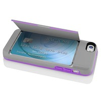 The Gray & Purple STOWAWAY™ Credit Card Case with Integrated Stand for iPhone 5c