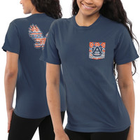 Auburn Tigers Women's Coastal Aztec T-Shirt – Navy Blue