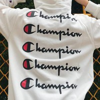 Champion Woman Men Fashion Print Top Sweater Pullover Hoodie