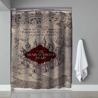 """New Rare Marauders Map Herry Potter Exclusive Design Shower Curtain 60""""x72"""""""