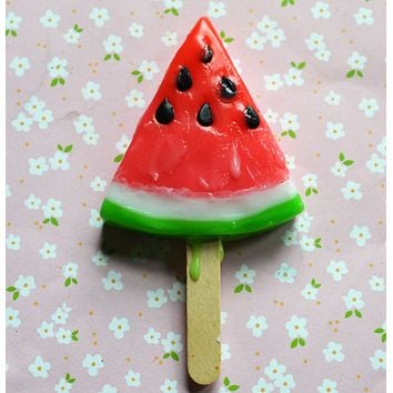 Watermelon Ice Popsicle Fridge Magnet