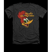 Mens Woody Woodpecker Retro Logo Vintage Heather Tee Shirt