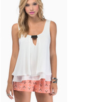 White Womens Loose Summer Sexy Pure Color Chiffon Tanks
