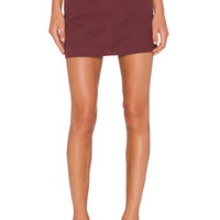 Marc by Marc Jacobs Greenwich Army Cotton Skirt in Misty Merlot