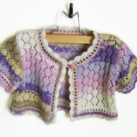 Knitted Baby Bolero Jacket - Multicolor, 2 - 3 years