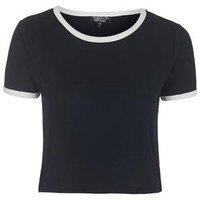 Contrast Trim Tee - Navy Blue