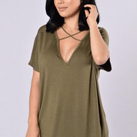 Watch Out For This Tee - Olive