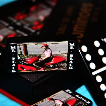 """""""Mr. Black"""" Customized & Personalized Dominoes"""