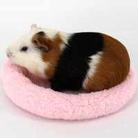 Bwogue Hamster Bed Round Velvet Warm Sleep Mat Pad for Hamster/Hedgehog/Squirrel/Mice/Rats and Other Small Animals