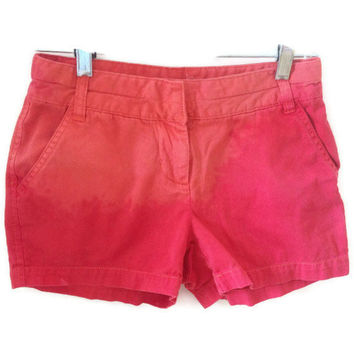High Waisted Orange Red Dip Dyed Shorts Hipster by shortyshorts