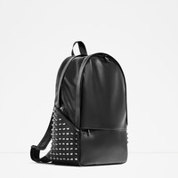 "BLACK STUDDED BACKPACK FOR 13"" LAPTOP DETAILS"