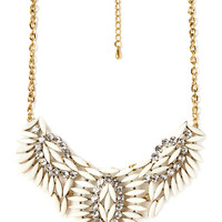 Clustered Faux Stone Bib Necklace