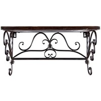 Iron & Wood Rectangle Shelf with Scroll Detail   Shop Hobby Lobby