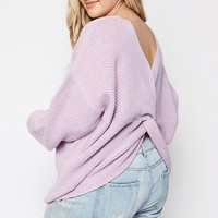 Twist Back Plus Size Sweater