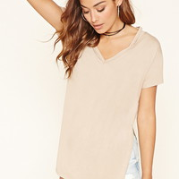 Cutout V-Neck Tunic   FOREVER 21 - 2000206241