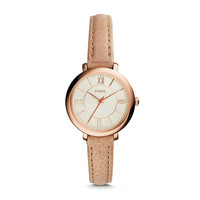Jacqueline Mini Three-Hand Leather Watch | Fossil