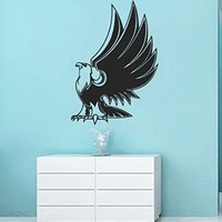 Wall Vinyl Sticker Decal Eagle Lifting His Wings Nursery Room Nice Picture Decor Mural Hall Wall Ki717
