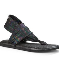 Sanuk Yoga Sling 2 Metallic Black Rainbow Sandals