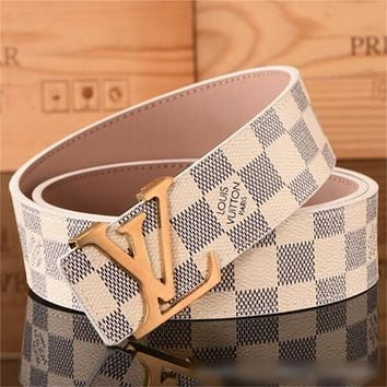 Louis Vuitton LV Monogram Men and Women's Belt
