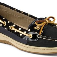 Sperry Top-Sider Angelfish Foil Dot Slip-On Boat Shoe Black, Size 9M  Women's Shoes