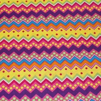 Easter Fabric, Chevron Design, Brother Sister Studio, 1/2 Yard, I combine shipping and I refund shipping overages