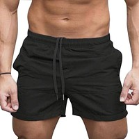 Men Plus Size Basic Casual Trunks Beach Long Board Shorts Solid Color Boxer Surf Water Shorts