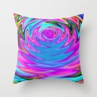 Psychedelic 60s Throw Pillow by Alice Gosling   Society6