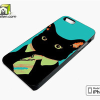 Cat Office iPhone 5s Case Cover by Avallen