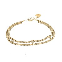 The Three Charms Anklet
