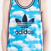 adidas Originals Cloud Print Mesh Tank Top